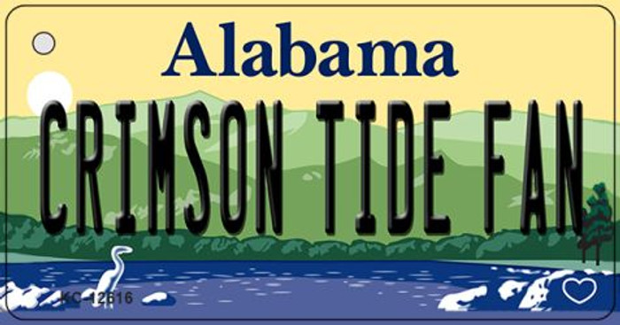 Crimson Tide Fan Wholesale Novelty Metal Key Chain KC-12616