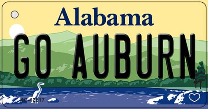 Go Auburn Wholesale Novelty Metal Key Chain KC-12617