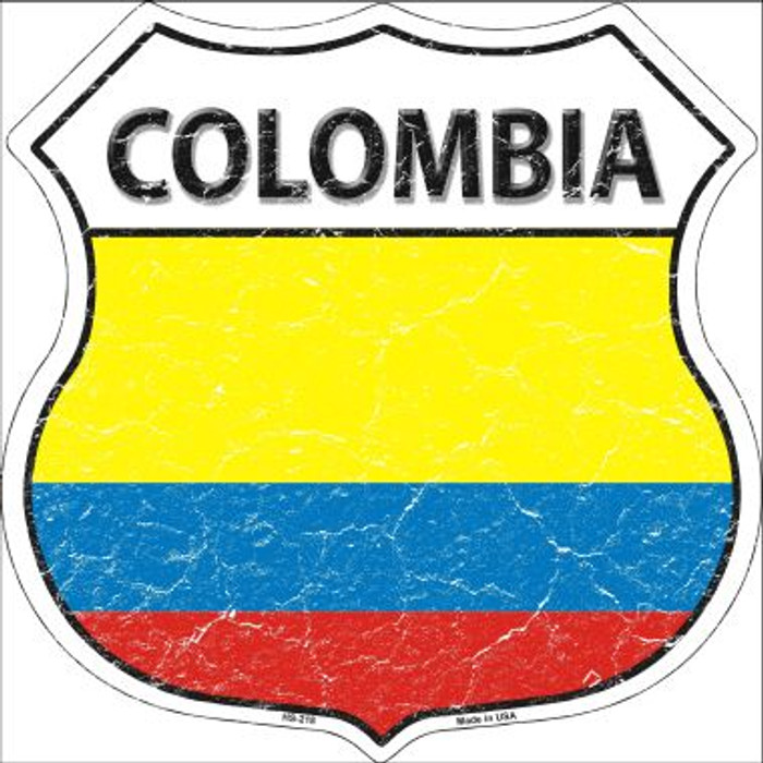 Colombia Country Flag Highway Shield Wholesale Metal Sign