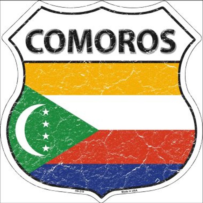 Comoros Country Flag Highway Shield Wholesale Metal Sign