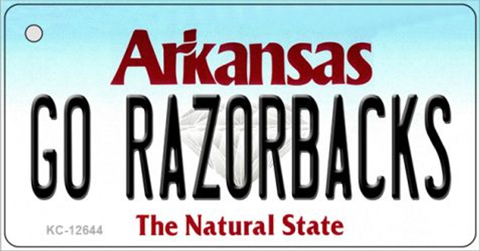 Go Razorbacks Wholesale Novelty Metal Key Chain KC-12644