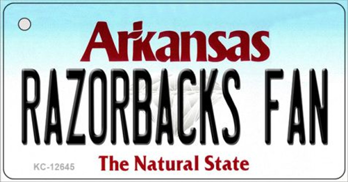 Razorbacks Fan Wholesale Novelty Metal Key Chain KC-12645