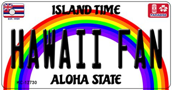 Hawaii Fan Wholesale Novelty Metal Key Chain KC-12730