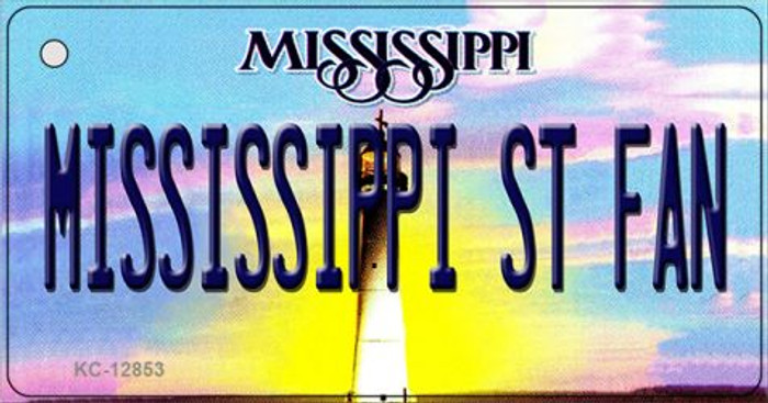 Mississippi State Fan Wholesale Novelty Metal Key Chain KC-12853