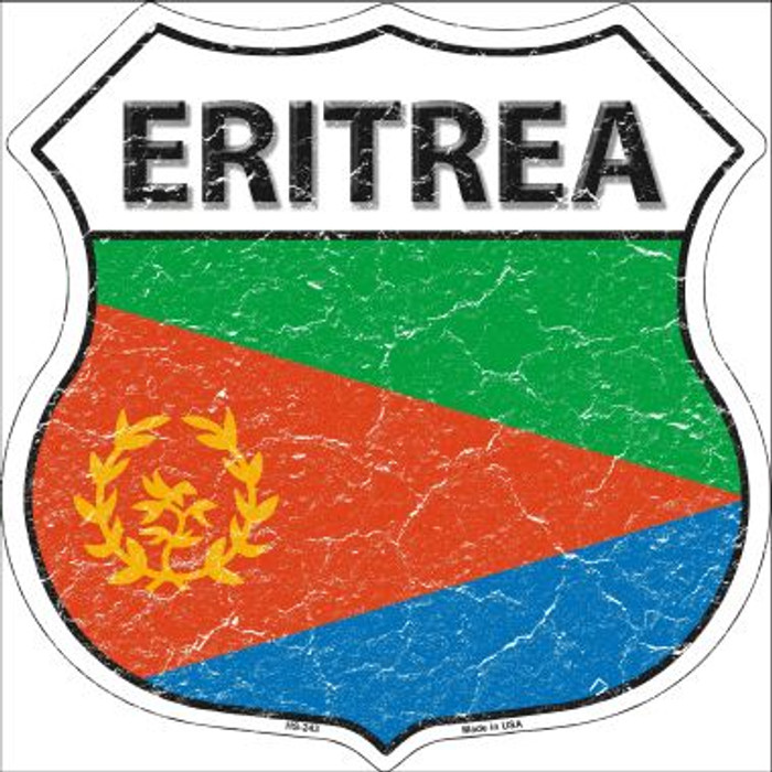 Eritrea Country Flag Highway Shield Wholesale Metal Sign