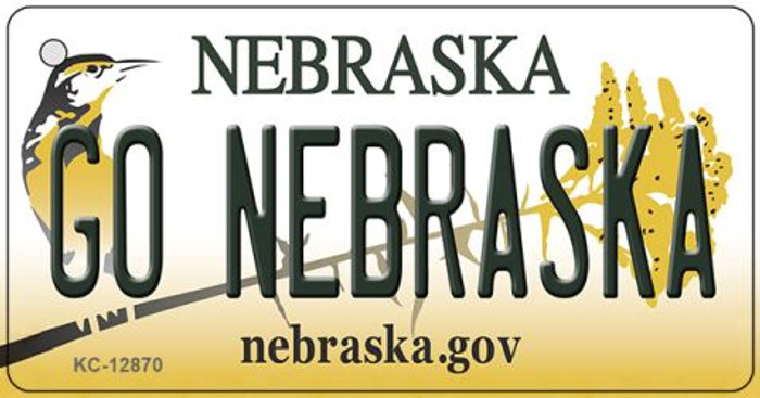 Go Nebraska Wholesale Novelty Metal Key Chain KC-12870