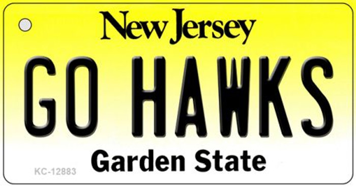 Go Hawks Wholesale Novelty Metal Key Chain KC-12883