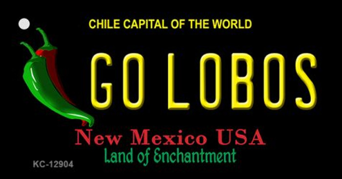 Go Lobos Wholesale Novelty Metal Key Chain KC-12904