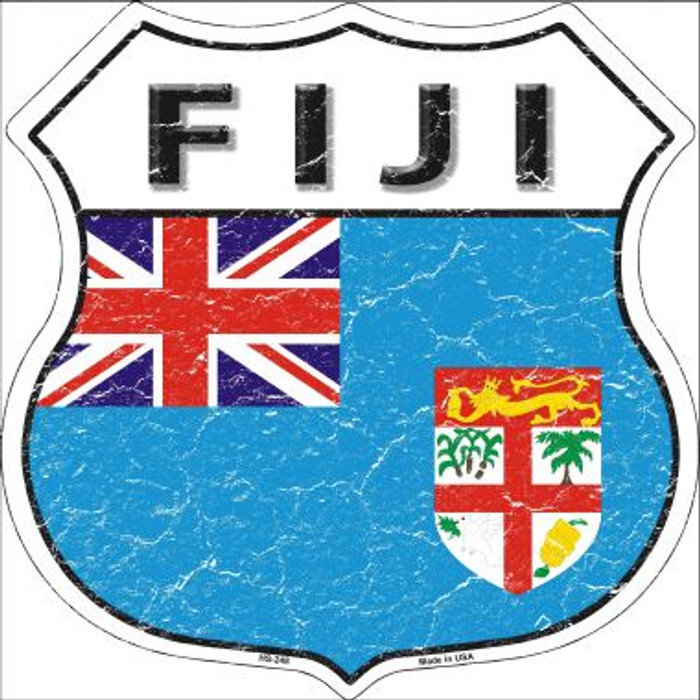Fiji Country Flag Highway Shield Wholesale Metal Sign