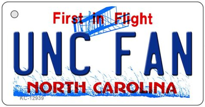Univ North Carolina Fan Wholesale Novelty Metal Key Chain KC-12939