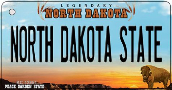 North Dakota State Wholesale Novelty Metal Key Chain KC-12951