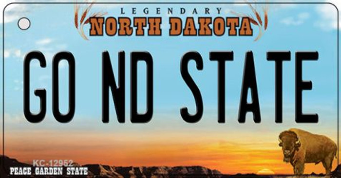 Go North Dakota State Wholesale Novelty Metal Key Chain KC-12952