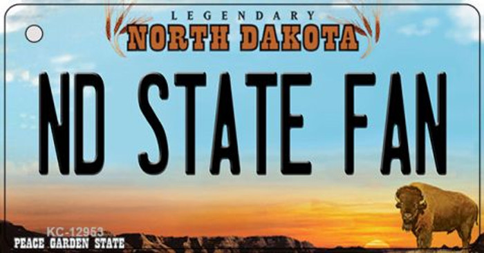 North Dakota State Fan Wholesale Novelty Metal Key Chain KC-12953