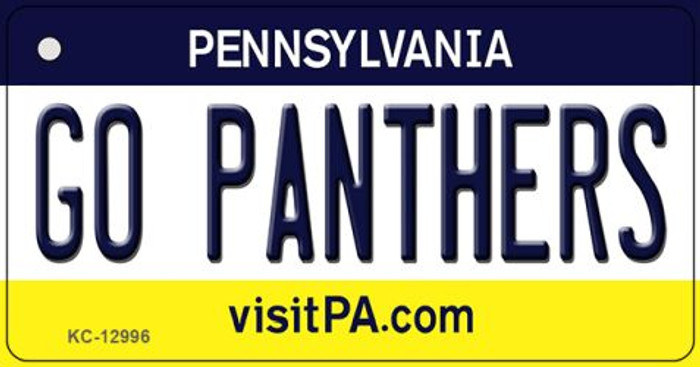 Go Panthers Wholesale Novelty Metal Key Chain KC-12996