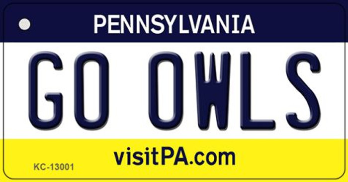 Go Owls Wholesale Novelty Metal Key Chain KC-13001