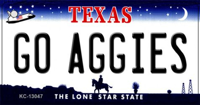 Go Aggies Wholesale Novelty Metal Key Chain KC-13047