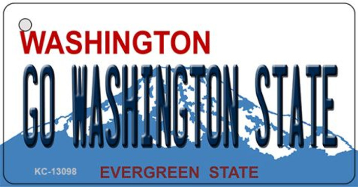 Go Washington State Wholesale Novelty Metal Key Chain KC-13098