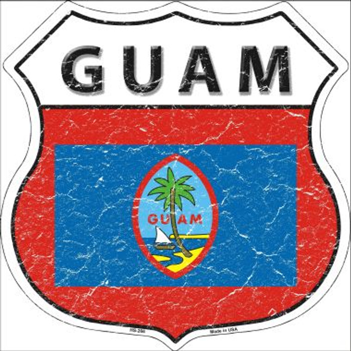 Guam Country Flag Highway Shield Wholesale Metal Sign