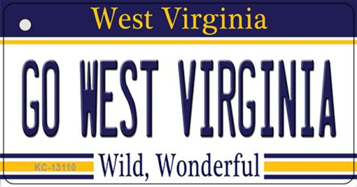 Go West Virginia Wholesale Novelty Metal Key Chain KC-13110