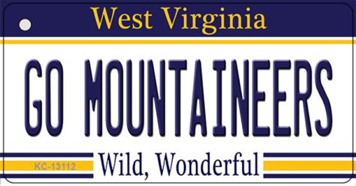 Go Mountaineers Wholesale Novelty Metal Key Chain KC-13112