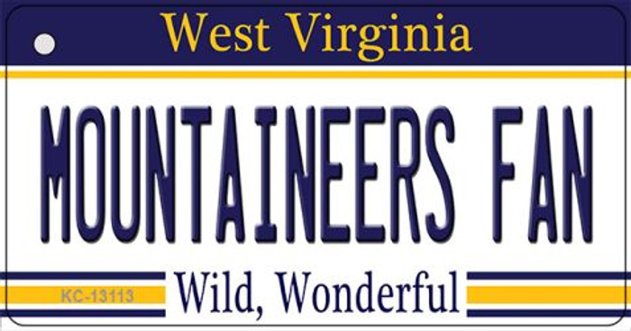 Mountaineers Fan Wholesale Novelty Metal Key Chain KC-13113
