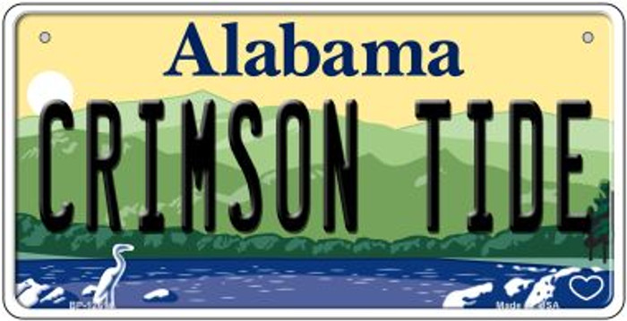 Crimson Tide Wholesale Novelty Metal Bicycle Plate BP-12614