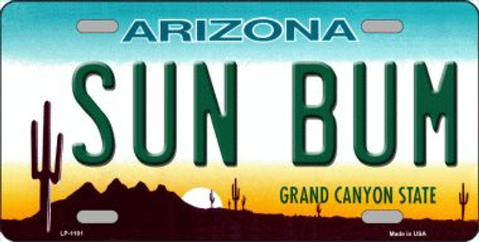 Sun Bum Arizona Wholesale Novelty Metal License Plate