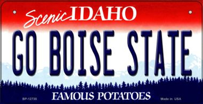 Go Boise State Wholesale Novelty Metal Bicycle Plate BP-12735