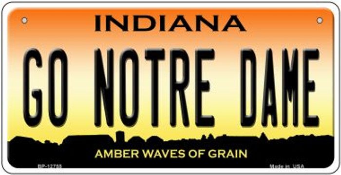 Go Notre Dame Wholesale Novelty Metal Bicycle Plate BP-12755