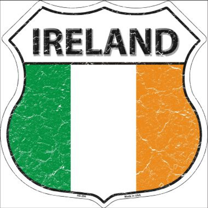 Ireland Country Flag Highway Shield Wholesale Metal Sign