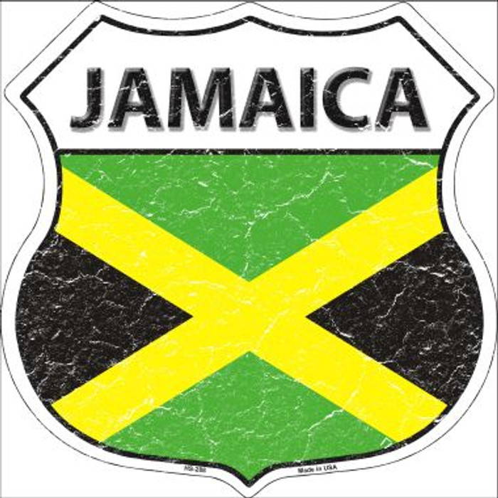 Jamaica Country Flag Highway Shield Wholesale Metal Sign