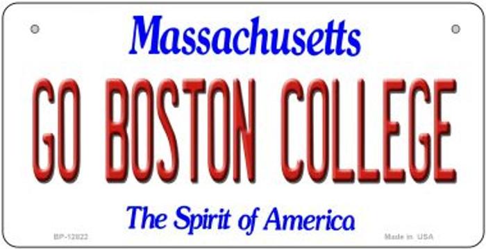 Go Boston College Wholesale Novelty Metal Bicycle Plate BP-12822