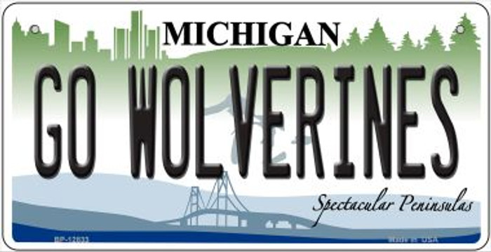Go Wolverines Wholesale Novelty Metal Bicycle Plate BP-12833
