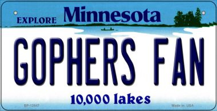 Gophers Fan Wholesale Novelty Metal Bicycle Plate BP-12847
