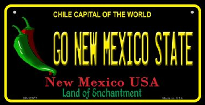 Go New Mexico State Wholesale Novelty Metal Bicycle Plate BP-12907