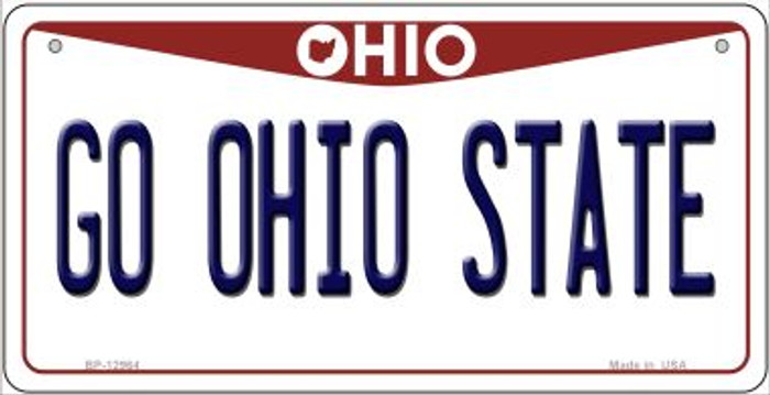 Go Ohio State Wholesale Novelty Metal Bicycle Plate BP-12964
