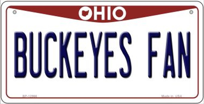 Buckeyes Fan Wholesale Novelty Metal Bicycle Plate BP-12966