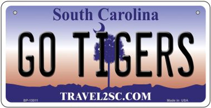 Go Tigers Wholesale Novelty Metal Bicycle Plate BP-13011