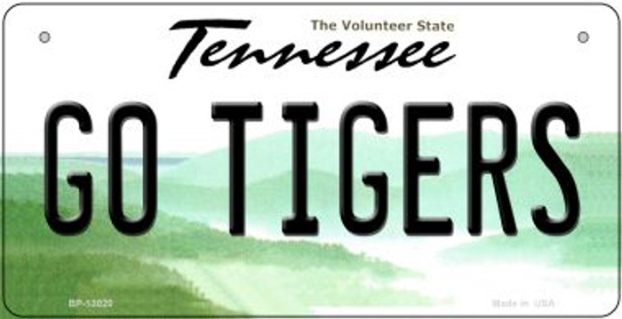 Go Tigers Wholesale Novelty Metal Bicycle Plate BP-13020