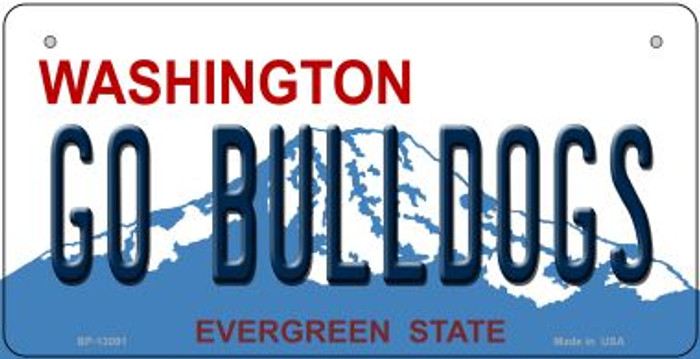 Go Bulldogs Wholesale Novelty Metal Bicycle Plate BP-13091
