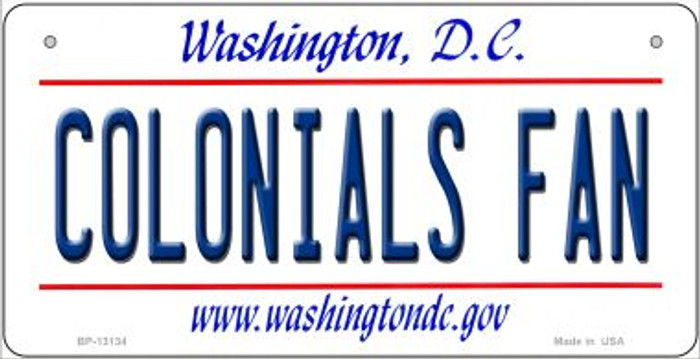 Colonials Fan Wholesale Novelty Metal Bicycle Plate BP-13134