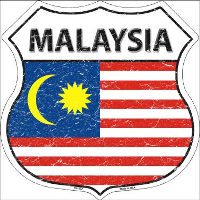 Malaysia Country Flag Highway Shield Wholesale Metal Sign