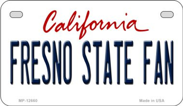 Fresno State Fan Wholesale Novelty Metal Motorcycle Plate MP-12660
