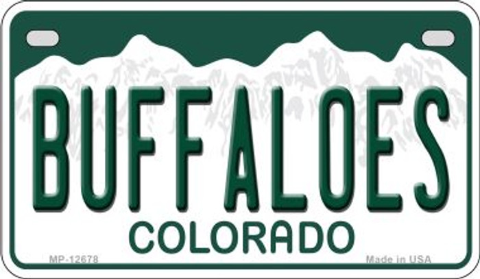 Buffaloes Wholesale Novelty Metal Motorcycle Plate MP-12678