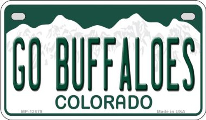 Go Buffaloes Wholesale Novelty Metal Motorcycle Plate MP-12679