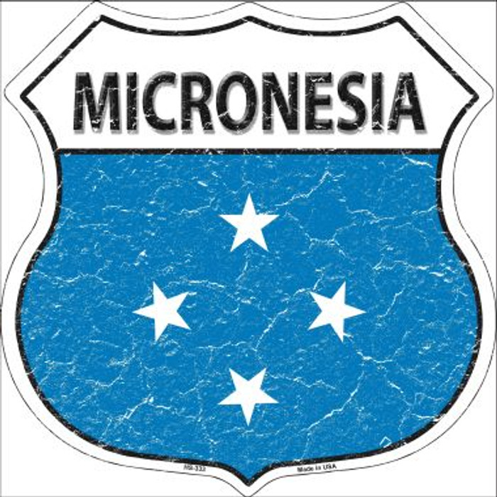 Micronesia Country Flag Highway Shield Wholesale Metal Sign