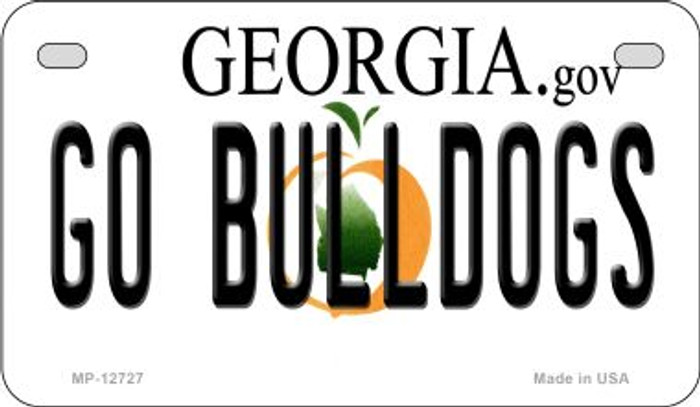 Go Bulldogs Wholesale Novelty Metal Motorcycle Plate MP-12727