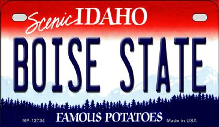 Boise State Wholesale Novelty Metal Motorcycle Plate MP-12734