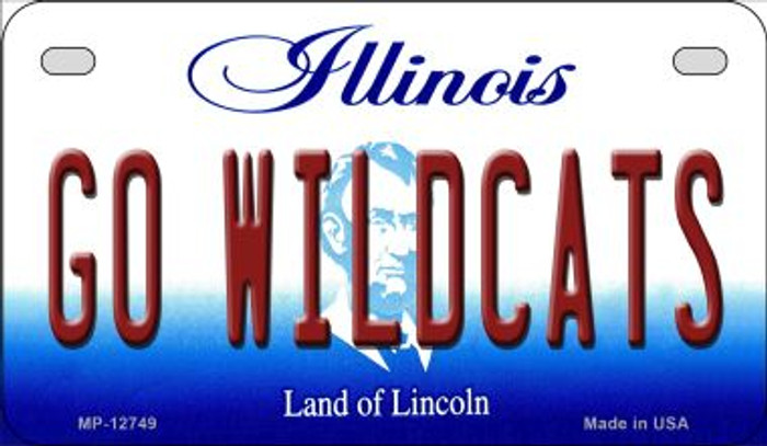 Go Wildcats Wholesale Novelty Metal Motorcycle Plate MP-12749
