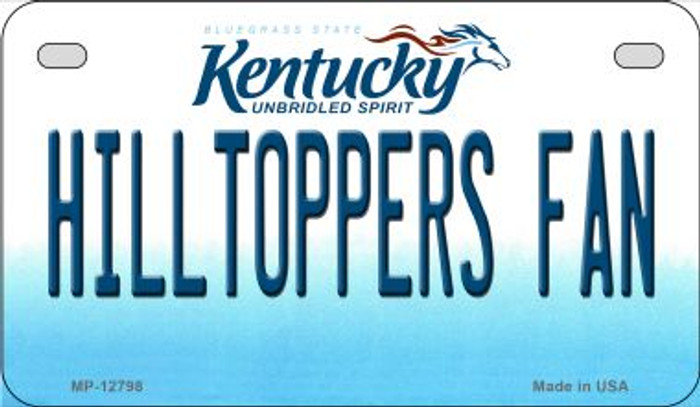 Hilltoppers Fan Wholesale Novelty Metal Motorcycle Plate MP-12798